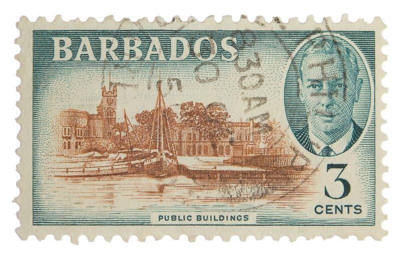 Postage Stamp. Barbados postage stamp on white background stock image
