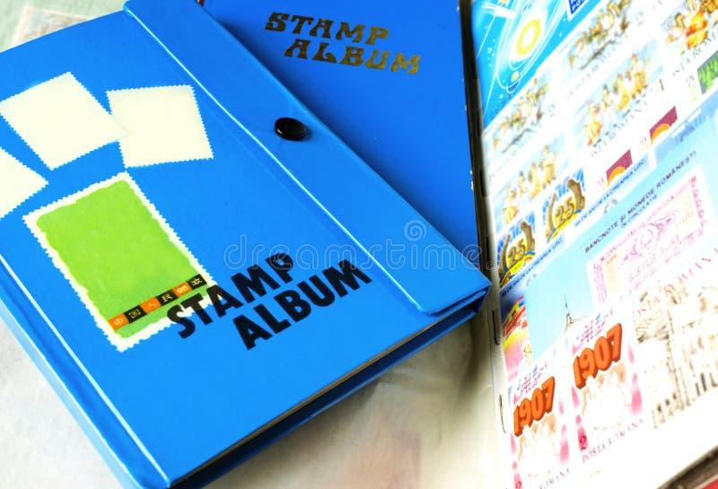 Postage Stamp Album stock photos