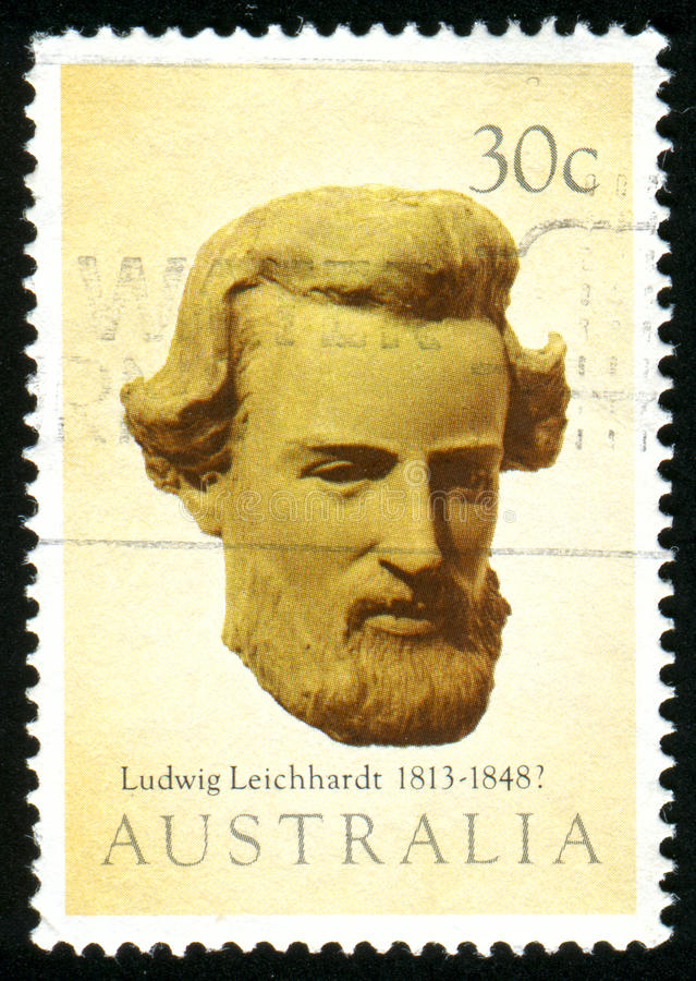 Postage stamp. AUSTRALIA - CIRCA 1983: stamp printed by Australia, shows Ludwig Leichhardt, circa 1983 stock photo