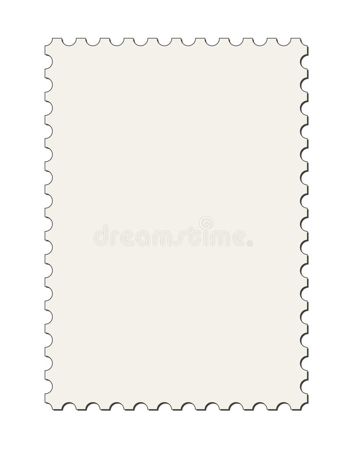Postage Stamp Border (vector) Stock Image