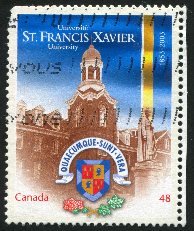 Postage stamp. CANADA - CIRCA 2003: stamp printed by Canada, shows St. Francis Xavier University, Antigonish, circa 2003 stock photos