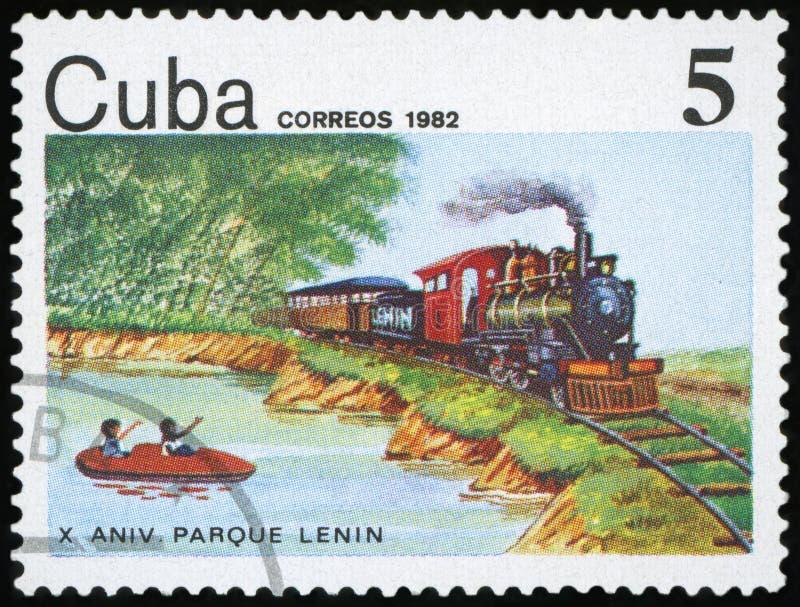 Postage Stamp - Cuba royalty free stock photos