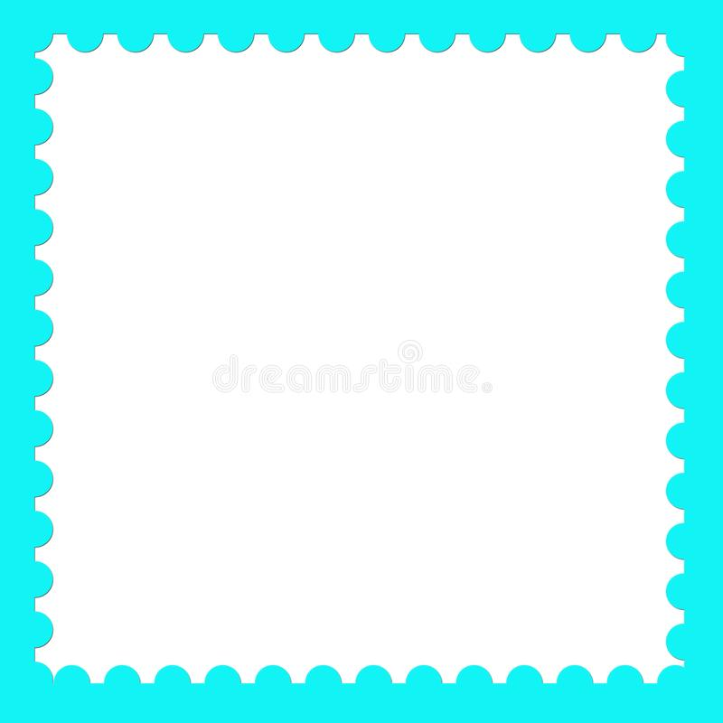 Postage stamp blank background template royalty free illustration