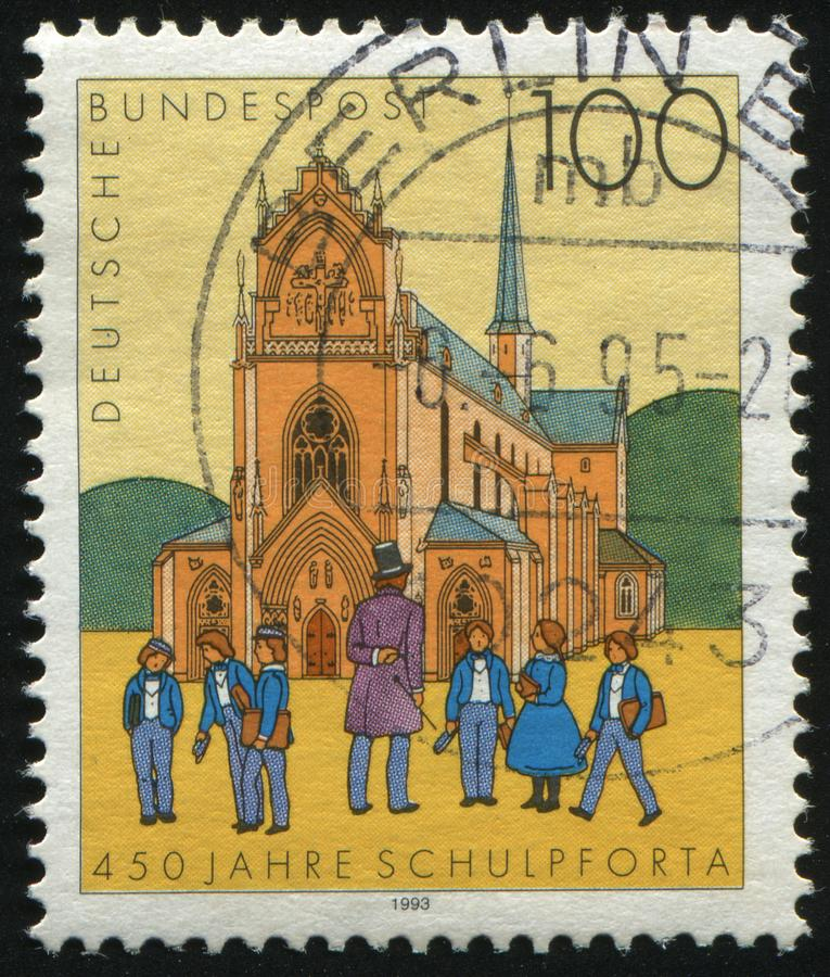 Postage stamp. GERMANY- CIRCA 1993: stamp printed by Germany, shows Schulpforta School for Boys, circa 1993 royalty free stock image