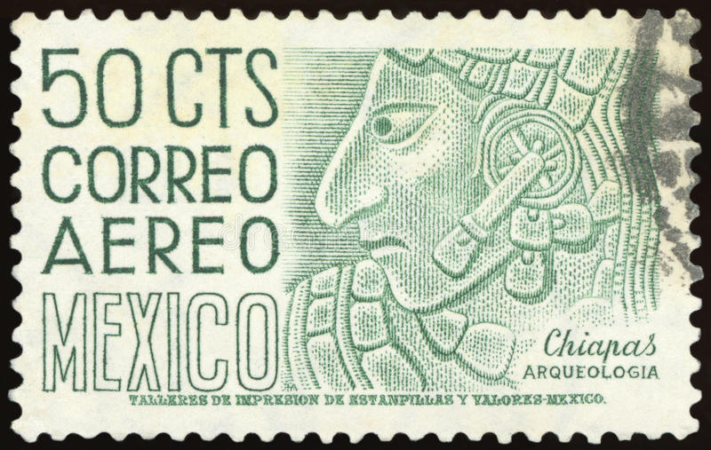 Postage stamp - Mexico royalty free stock photography