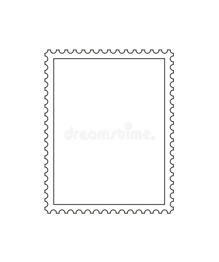 Free Postage Stamp Outline Stock Images - 4766944