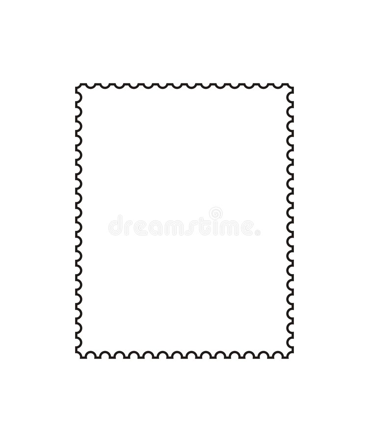 Free Postage Stamp Outline [vector] Stock Images - 4447534