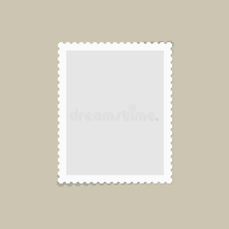 postage stamp for postcard stock vector illustration of mail