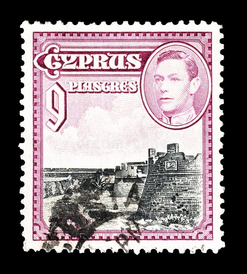 Postage stamp printed by Cyprus stock photo