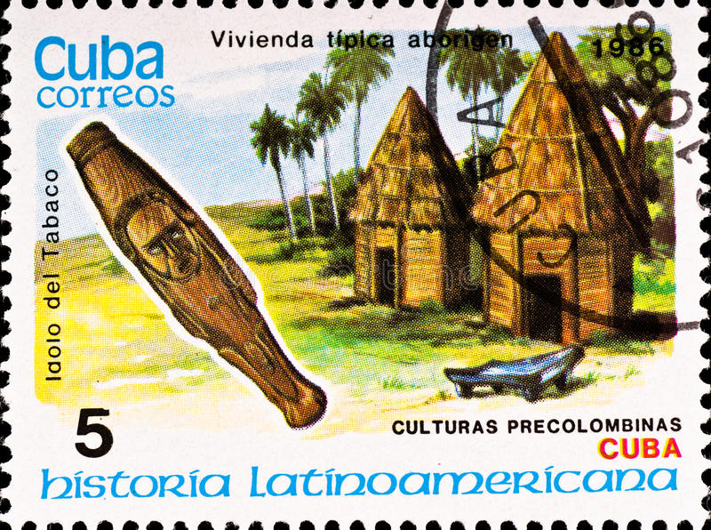 Postage stamp shows example Cuban culture royalty free stock photography