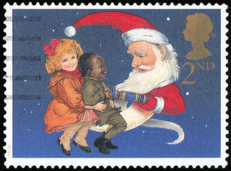 Postage stamp - UK. Postage Stamp - Santa Clouse Boxing day royalty free stock photography