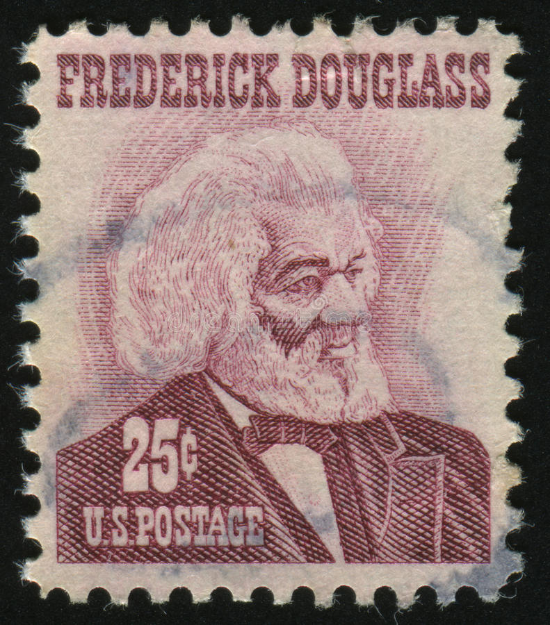 Postage stamp. UNITED STATES - CIRCA 1965: stamp printed by United states, shows Frederick Douglass, circa 1965 royalty free stock images