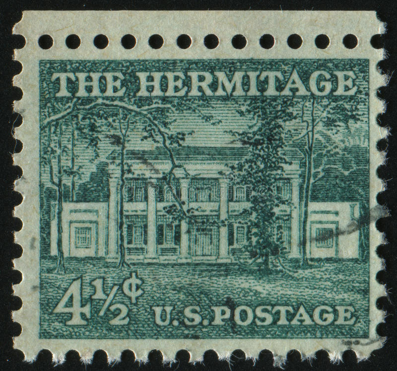 Postage stamp. UNITED STATES - CIRCA 1954: stamp printed by United states, shows The Hermitage, circa 1954 stock photos