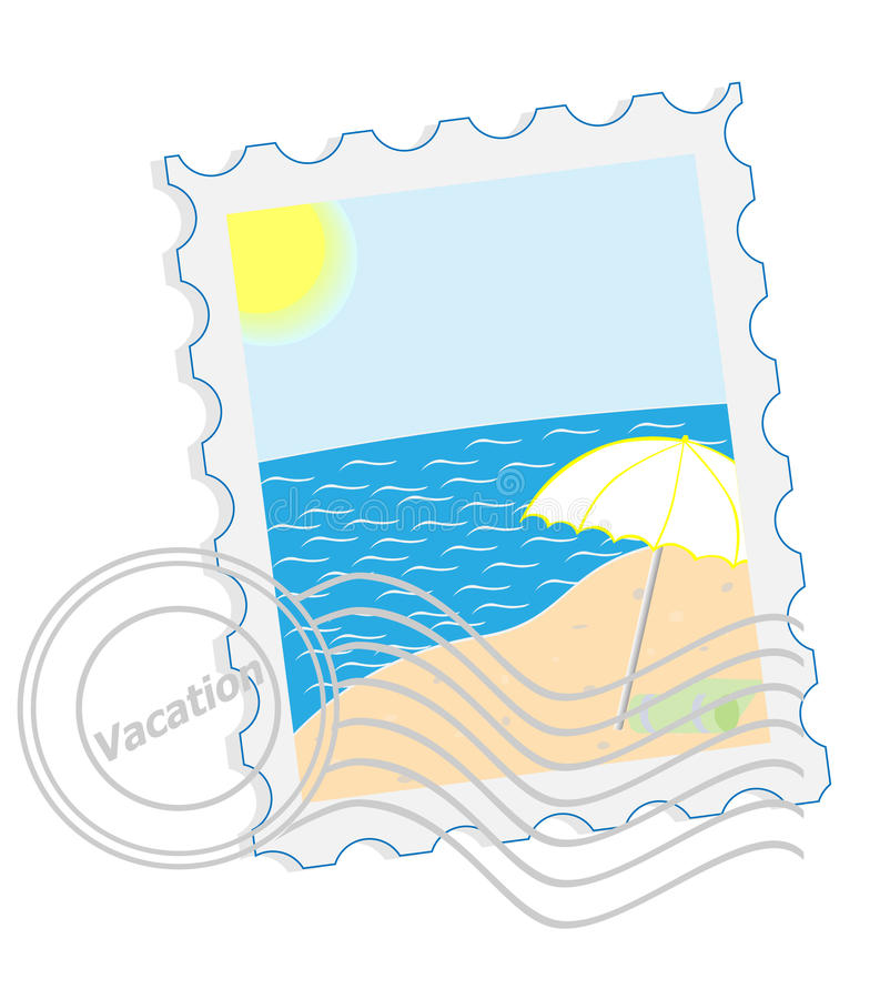 Download Postage stamp - Vacation stock vector. Image of image - 16411490
