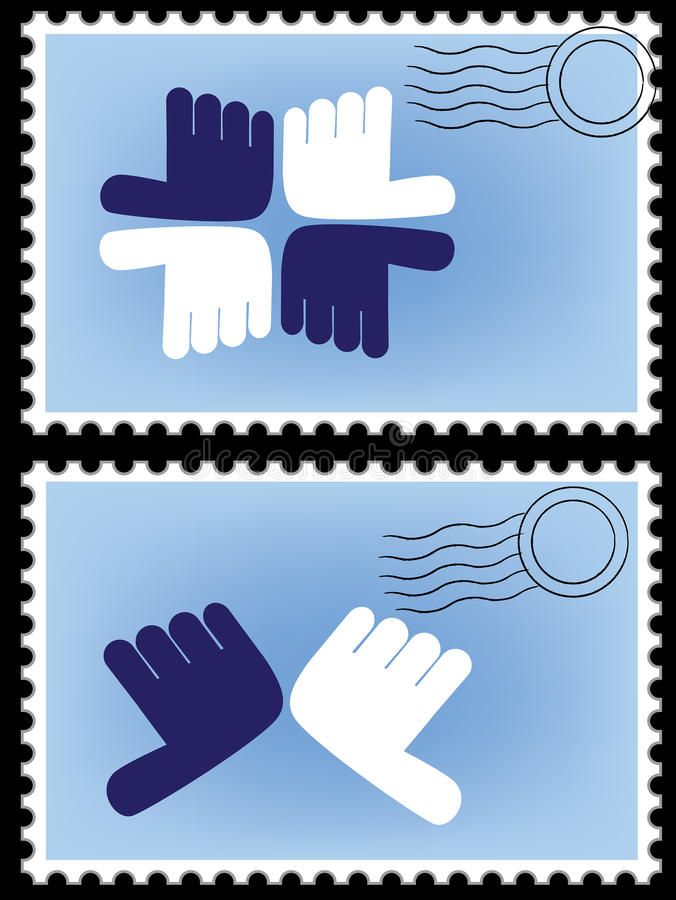 Download Postage stamp vector stock vector. Illustration of blue - 23210201