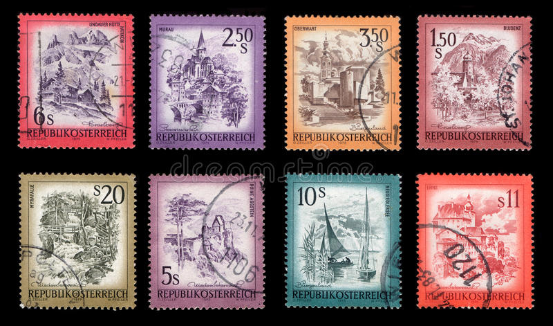 Download Postage Stamps stock photo. Image of postmark, austria - 25830356
