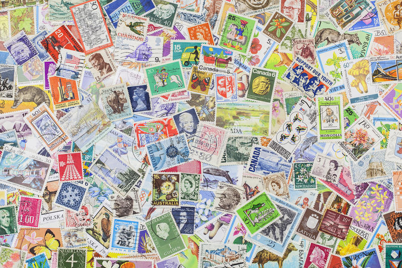Download Postage stamps stock image. Image of australia, historic - 26736183