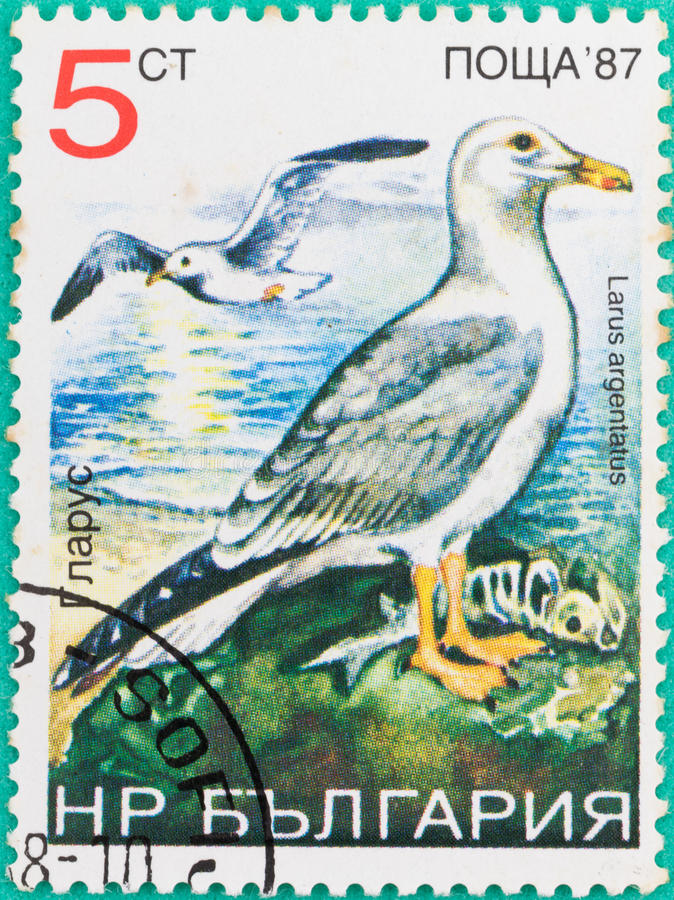 Postage stamps had been printed in Russian Federation royalty free stock photo