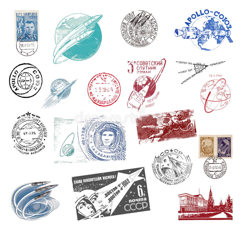 Postage stamps and labels from the Soviet Union