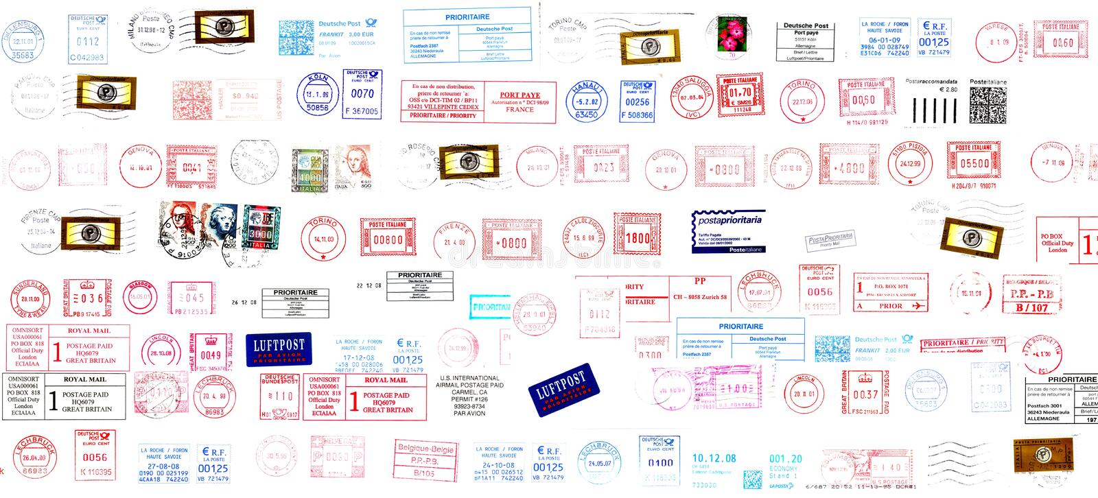 Postage Stamps From The World Stock Photos