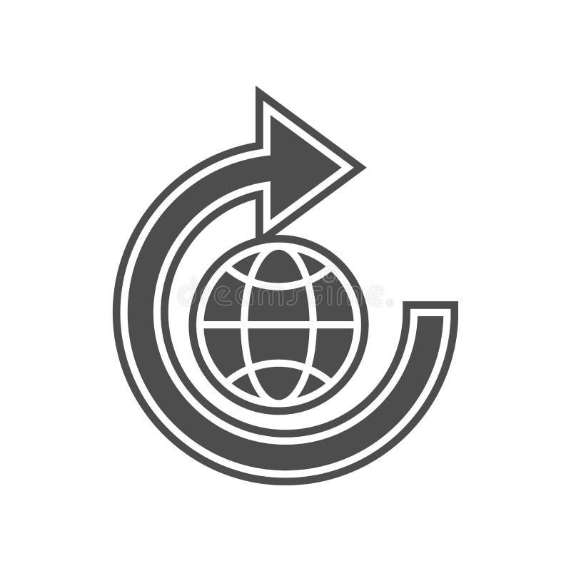 Postaktualisierungs-Zeichenikone Element von minimalistic f?r bewegliches Konzept und Netz Appsikone Glyph, flache Ikone f?r Webs lizenzfreie abbildung