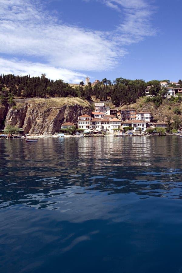 Postal 1 de Ohrid fotografía de archivo libre de regalías