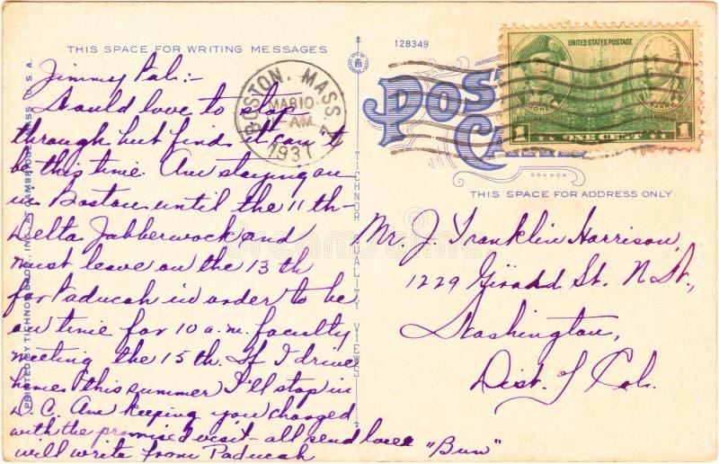 Postal - 1937 fotos de archivo libres de regalías