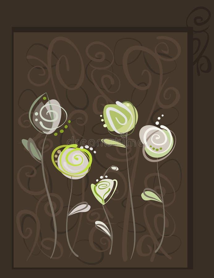 Postal abstracta de las rosas libre illustration