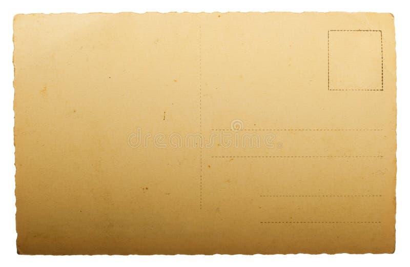 Postal antigua en blanco foto de archivo