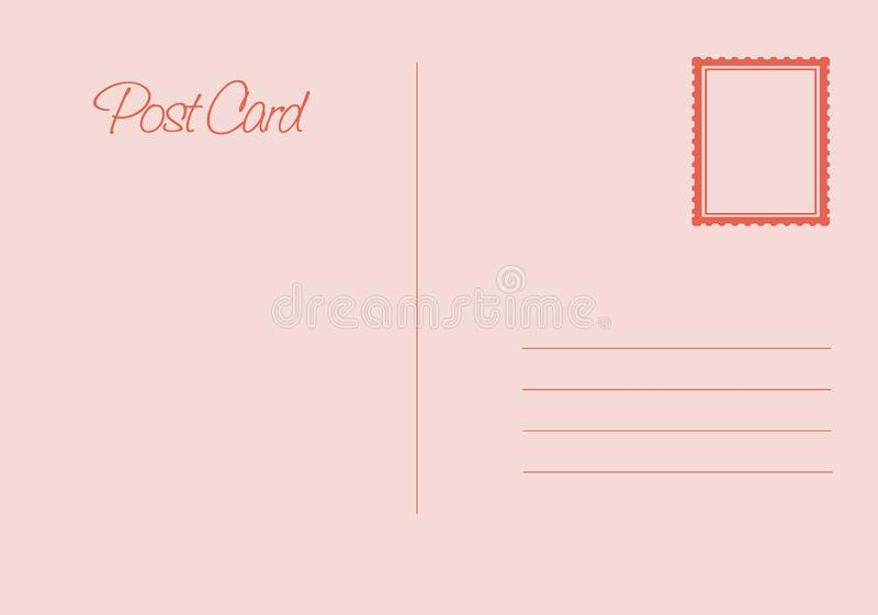Postal card isolated on white background. Vector stock illustration - Vector vector illustration