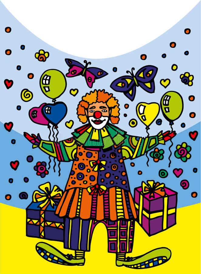 Postal Clown Royalty Free Stock Image