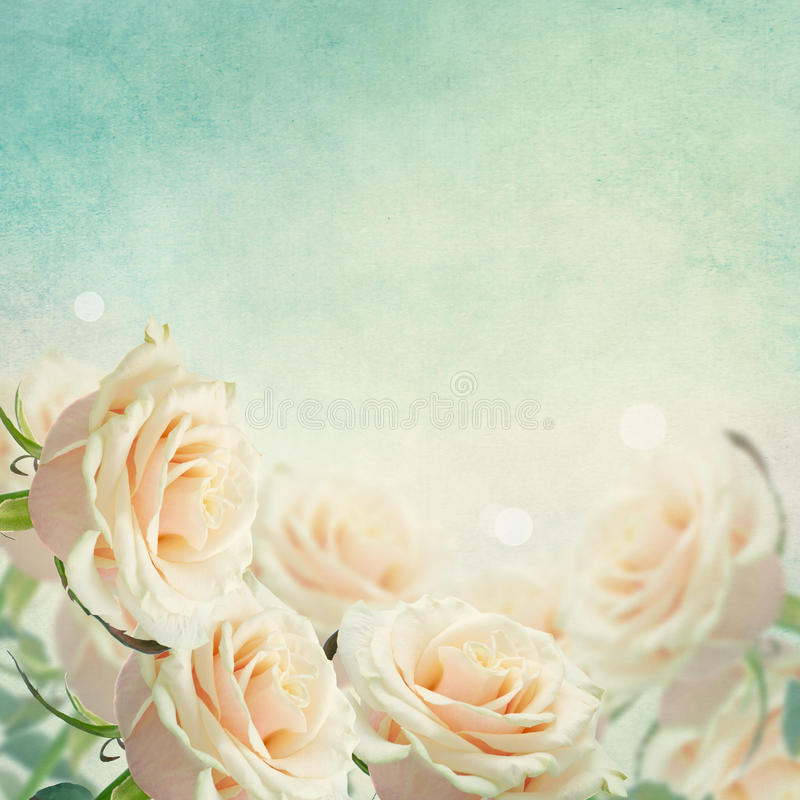 Postal con las flores elegantes imagenes de archivo