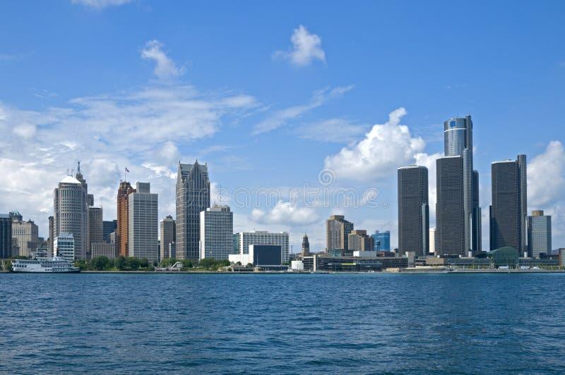 Postal de Detroit imagen de archivo