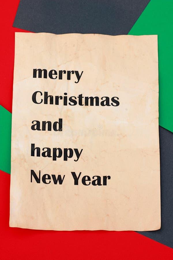 Postal de la Feliz Navidad fotos de archivo libres de regalías