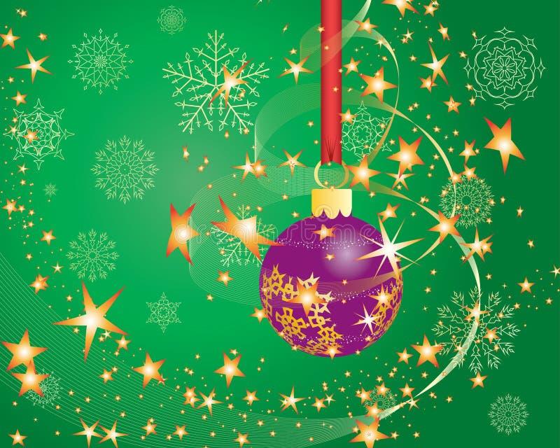 Download Postal de la Navidad ilustración del vector. Ilustración de decorativo - 7275424