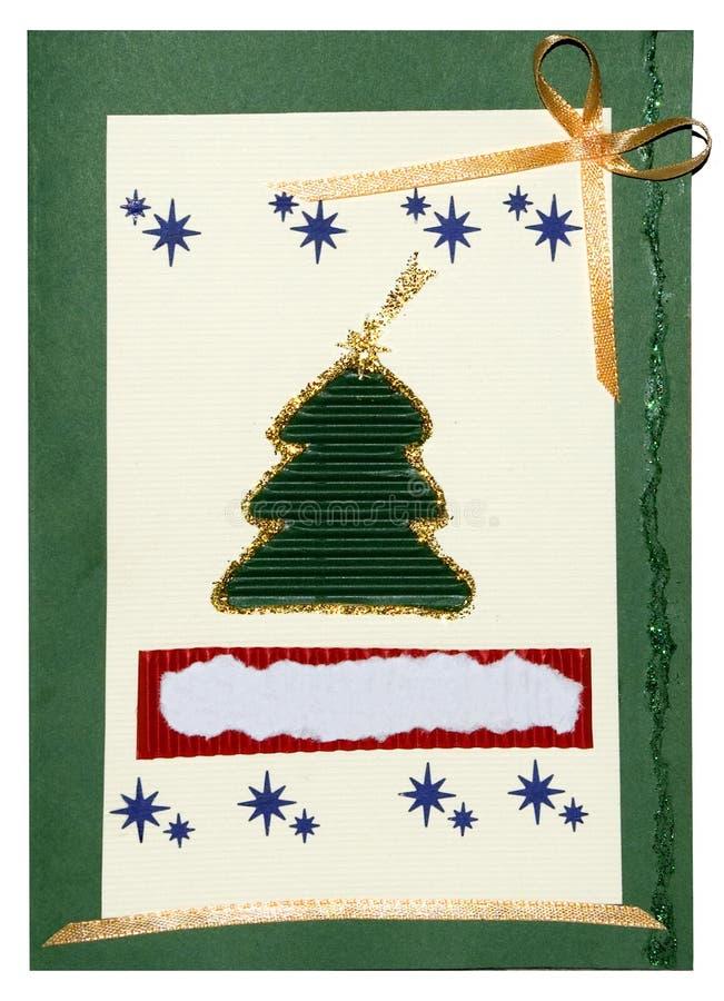 Postal de la Navidad hecha a mano libre illustration