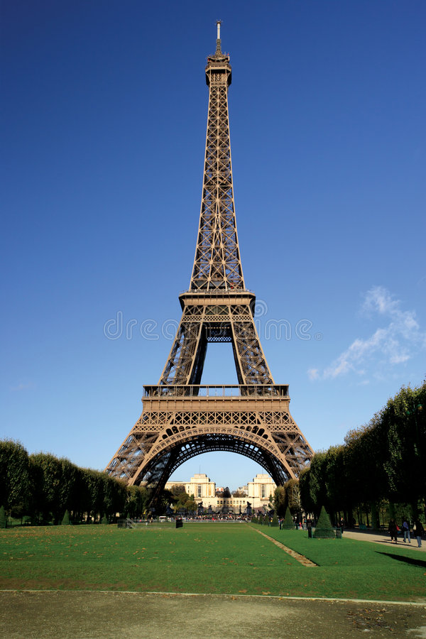 Postal de la torre Eiffel imagenes de archivo