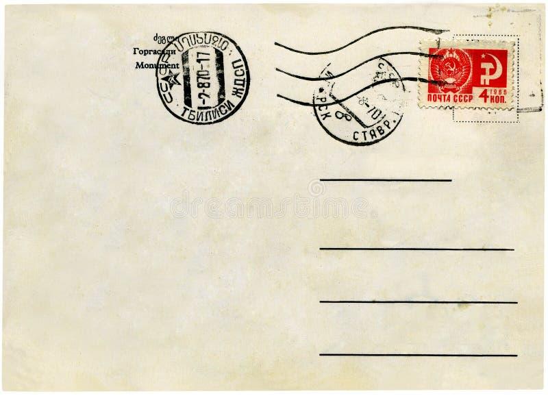 Postal de la vendimia. fotografía de archivo libre de regalías