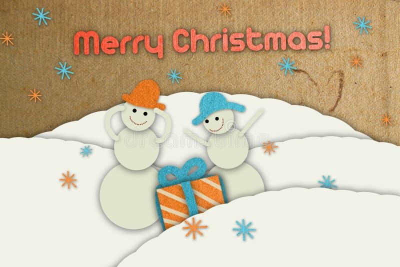 Postal de Navidad stock de ilustración