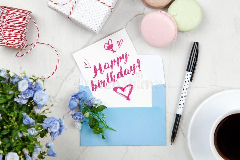 Postal del feliz cumpleaños foto de archivo libre de regalías