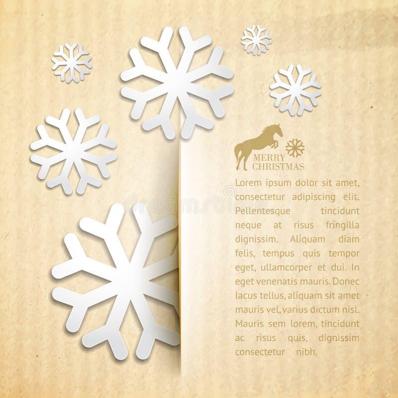 Postal del invierno. ilustración del vector