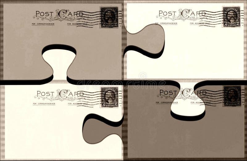 Postal desconcertada ilustración del vector
