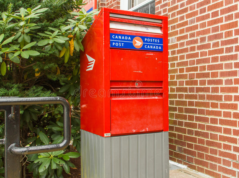 Postal Drop Box In Canada Editorial Stock Photo