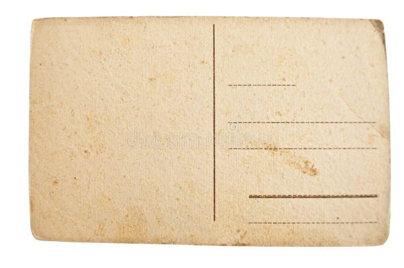 Postal en blanco vacía del vintage imagen de archivo
