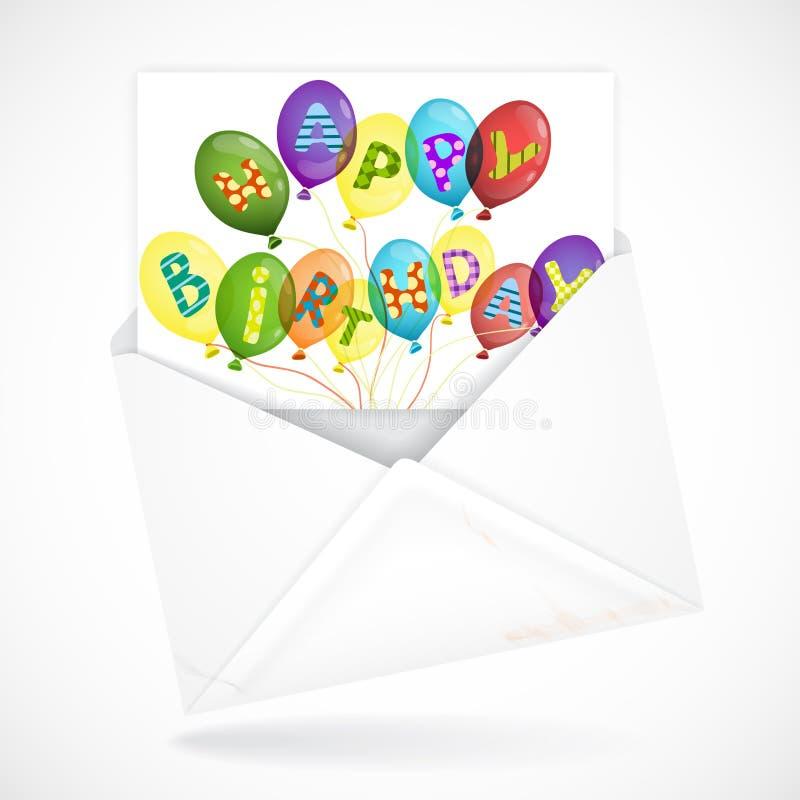 Postal Envelopes With Greeting Card vector illustration