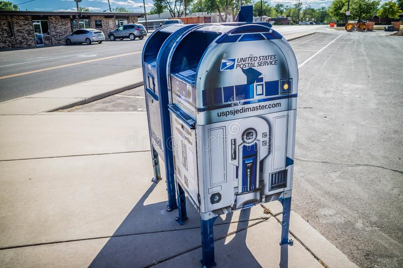 A postal mail service in Roswell, New Mexico stock photos