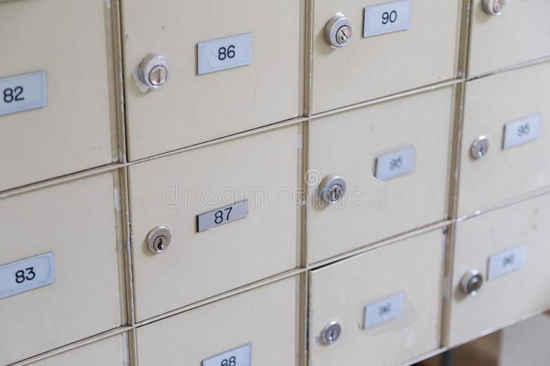 Postal Mailboxes royalty free stock images