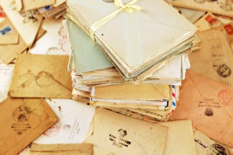 Postal paper mails stock image