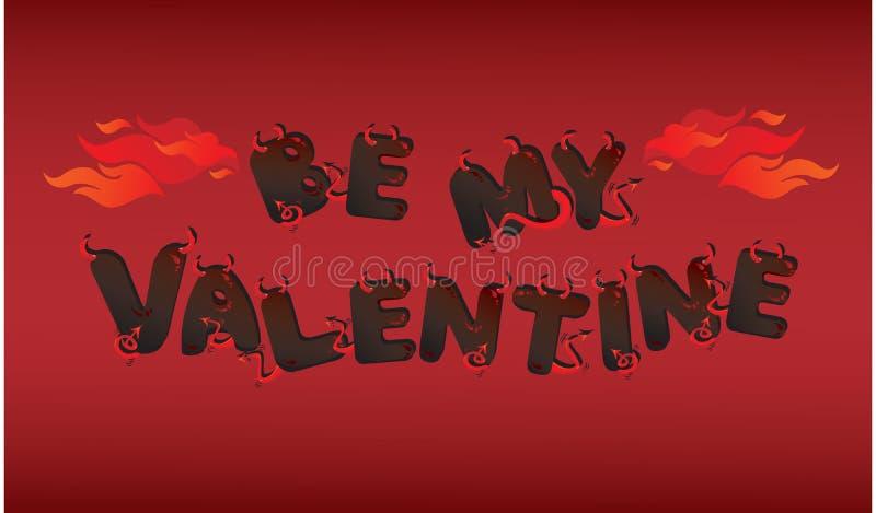 Postal para el día del `s de la tarjeta del día de San Valentín stock de ilustración