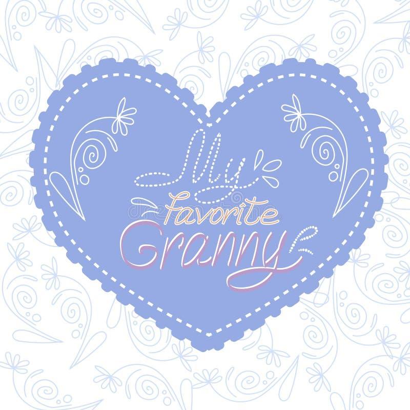 Postal para la abuela libre illustration